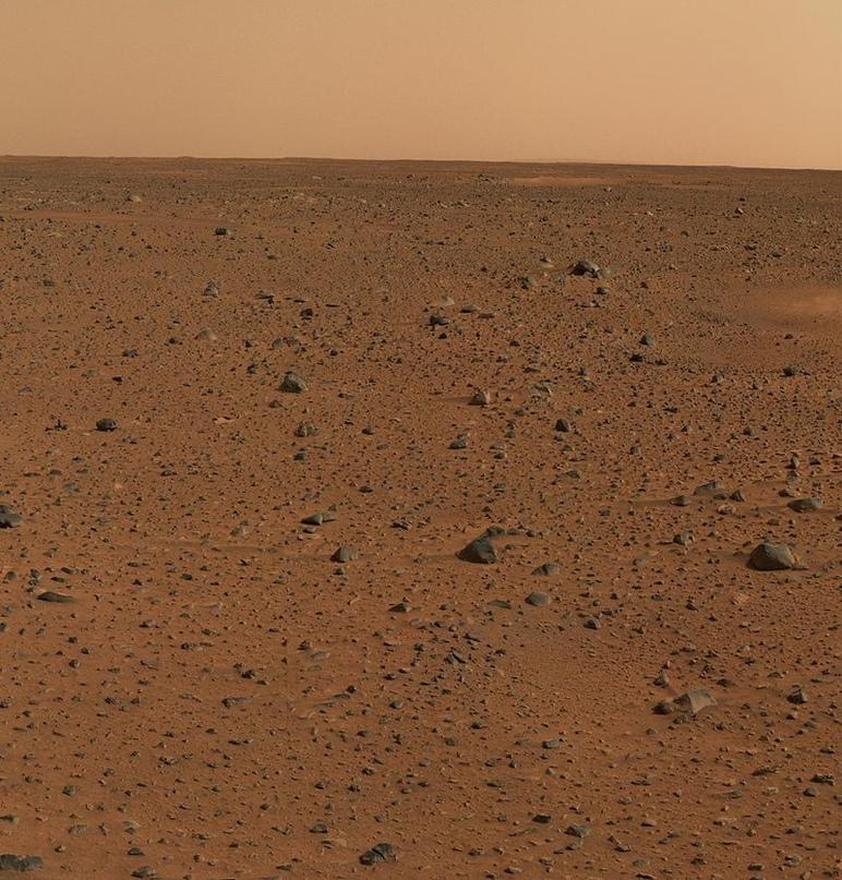 Панорама кратера Гусев на марсе