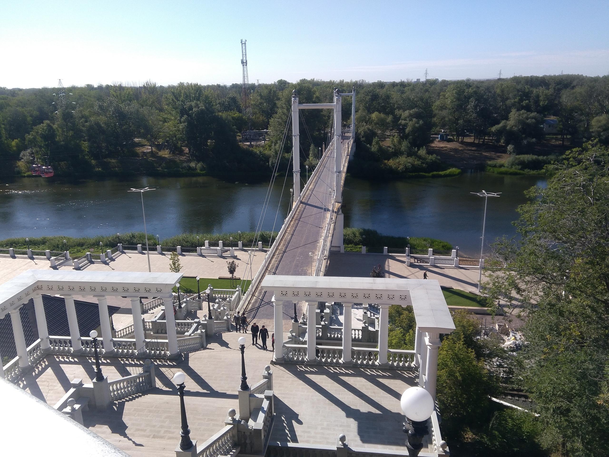 Пешеходный мост Европа-Азия в Оренбурге