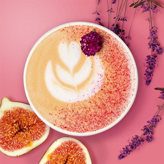 Кофе-позитив: Капучино лаванда-инжир