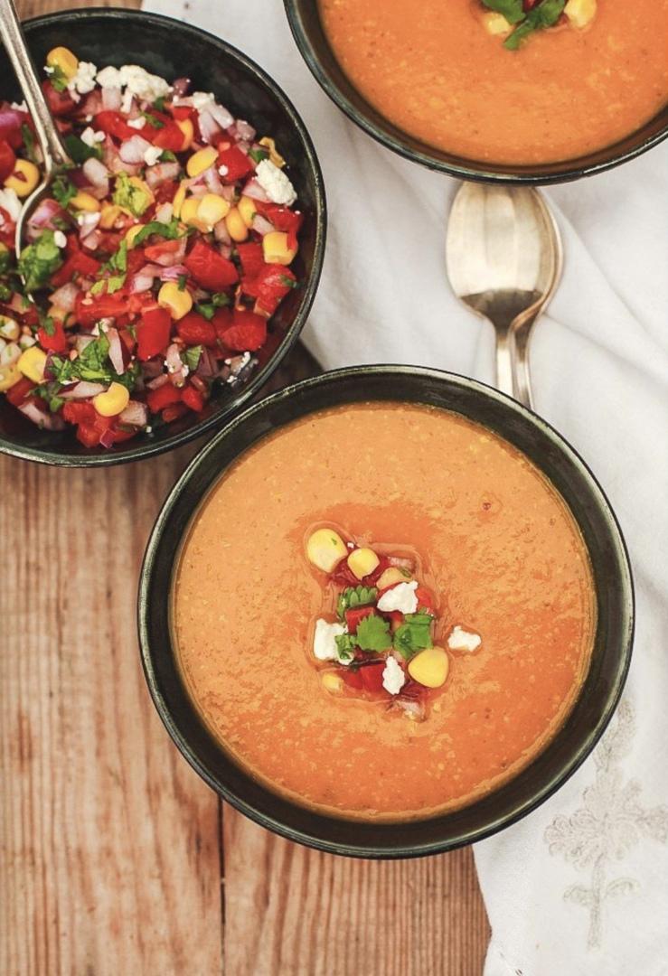 Крем-суп из тыквы с сальсой, изображение №2