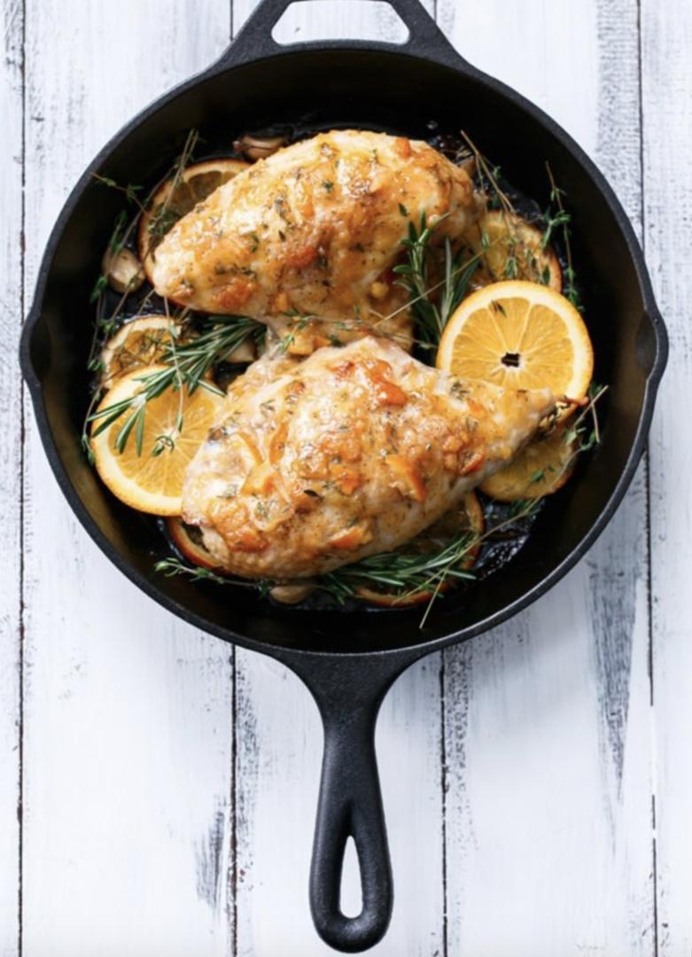 Жареные куриные грудки с апельсиновым мармеладом, изображение №3