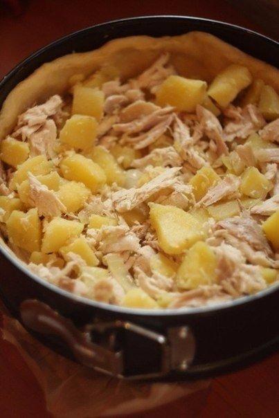 🍴Пирог с курицей и картофелем, изображение №5