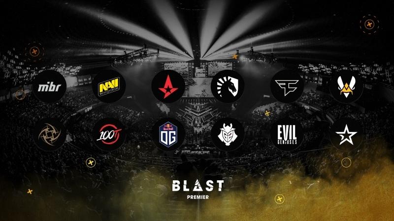 BLAST Pro Series анонсировал 12 команд которые будут играть на их турнирах в течении всего 2020 года.